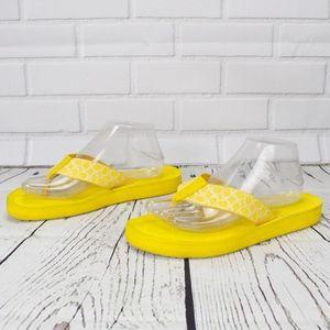 Coach Yellow Signature Flip Flop Thong Sandals 10